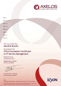 Hendrik Brecht - ITIL® Foundation Certificate in IT Service Management