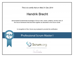 Hendrik Brecht - Professional Scrum Master