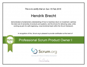 Hendrik Brecht - Professional Scrum Product Owner