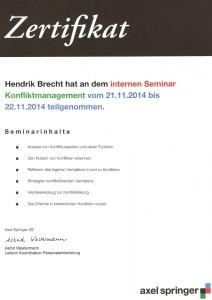Konfliktmanagement Hendrik Brecht