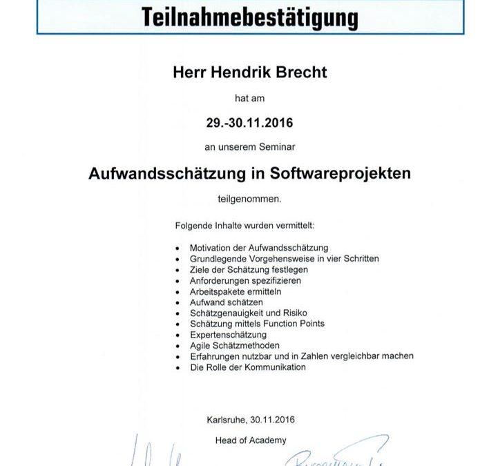 Aufwandsschätzung in Softwareprojekten - Hendrik Brecht