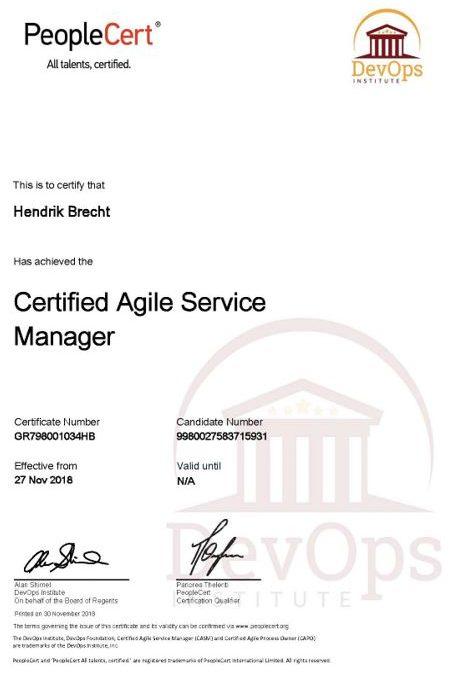 Agile Service Manager (CASM) - Hendrik Brecht