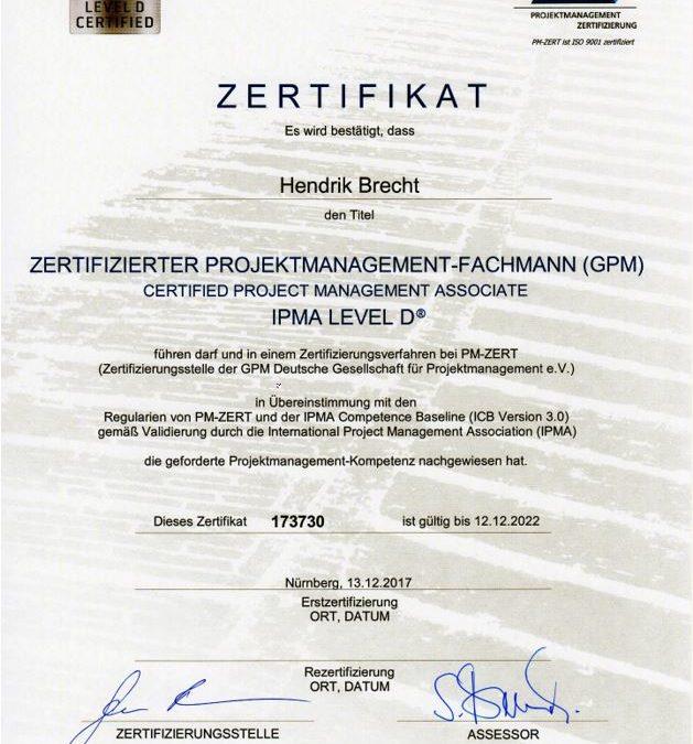 IPMA GPM Level D - Hendrik Brecht